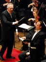 Nathan and Maestro Bramwell Tovey with Vancouver Symphony